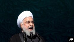 အီရန္သမၼတ Hassan Rouhani. (ေဖေဖာ္ဝါရီ ၁၁၊ ၂၀၂၀)