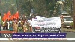 Goma: une marche citoyenne contre l'Ebola