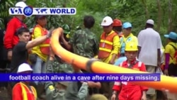 VOA60 World- Thai navy find youth soccer team trapped in cave alive after nine days