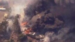 南加州山火迫使居民和大學師生撤離