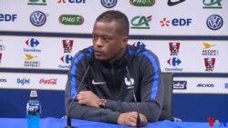 """Evra (défenseur-France) : Il va falloir """"agir"""" et non """"réagir"""" contre l'Islande (vidéo)"""