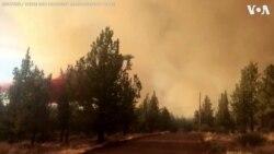 Firefighters Battle Wildfires in Oregon