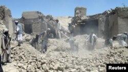 Последствия авиаудара в провинции Логар, Афганистан