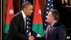 President Obama, left, and Jordan's King Abdullah in Amman, Jordan March 22, 2013