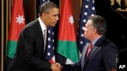 奥巴马总统和约旦国王阿卜杜勒3月22日在安曼