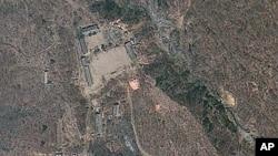지난 달 18일 촬영된 풍계리 핵실험장 주변 위성사진 (자료사진).
