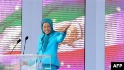 مریم رجوی، رهبر گروه مجاهدین خلق ایران در فرانسه به سر می برد.