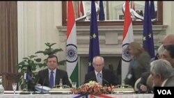 KTT Uni Eropa - India di New Delhi hari Jumat (10/2).
