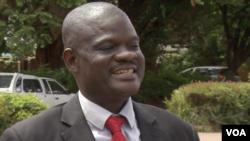Morgen Komichi, the vice chairman of the Movement for Democratic Change , in Harare, Jan. 21, 2018. (C Mavhunga/VOA)