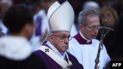 教宗方濟各2月14號主持聖灰彌撒 (資料照片 )