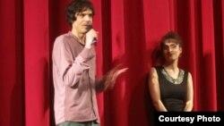 Симон Гросс и Нана Эквтимишвили на премьере Photo: Oleg Sulkin