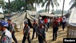 ជំរំជនជាតិ Rohingya នៅទីក្រុង Sittwe ប្រទេសភូមា។