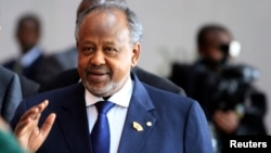 FILE - Djibouti's President Ismail Omar Guelleh, October 2013.
