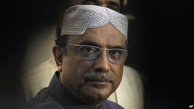 Pakistan's President Asif Ali Zardari, FILE August 15, 2010.