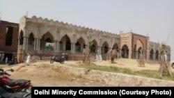 پلوال ہریانہ میں زیر تعمیر مسجد کا ایک منظر