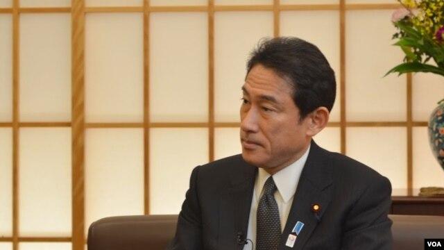 FILE - Japanese Foreign Minister Fumio Kishida.