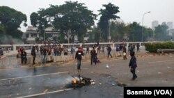 Situasi di sekitar Gedung DPR/MPR RI pasca unjuk rasa mahasiswa, 24 September 2019. (Foto: Terkini.com/Sasmito)