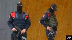 FILE - Albanian special police.