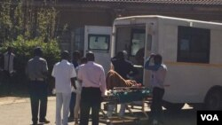 Several ambulances ferried the injured to a local hospirtal.