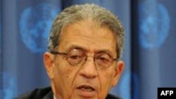Chủ Tịch Liên Đoàn Ả Rập Amr Moussa nói bạo lực nhắm vào những người biểu tình phải chấm dứt
