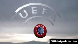 Logo Persatuan Asosiasi Sepakbola Eropa (UEFA).