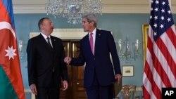 Джон Керри и Ильхам Алиев