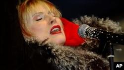Deborah Harry, of Blondie, during a free concert in New York in 2004
