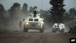 Misi penjaga perdamaian PBB melakukan patroli di Kongo (foto: dok).