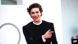 """Aktor Timothee Chalamet di acara pemutaran perdana film """"Dune"""" di festival film Venice di Italia (dok: Joel C Ryan/Invision/AP)"""