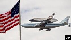 آخرین پرواز شاتل فضایی آمریکا در سال ۲۰۱۲