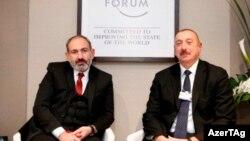 İlham Əliyev və Nikol Paşinyan Davosda görüşüb