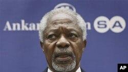 Tsohon sakataren Majalisar Dinkin Duniya, Kofi Annan.