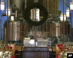 教堂啤酒屋的酿酒区是从前的圣坛