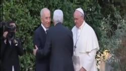 教宗與以巴領導人為中東和平祈禱