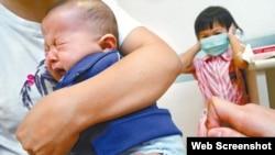 儿童接种疫苗(苹果日报资料图片)