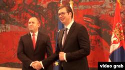 Predsednik Bugarske Rumen Radev i predsednik Srbije Aleksandar Vučić, tokom sastanka u Beogradu, 21. juna 2018.