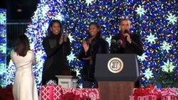 2016-12-02 美國之音視頻新聞: 奧巴馬總統主持白宮聖誕樹亮燈儀式