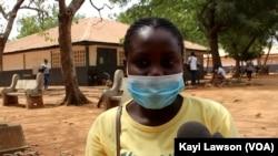 Eugénie, étudiante en 2ème année d'anglais à l'Université de Lomé.