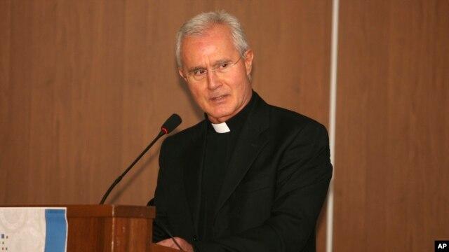 FILE - An undated photo of Monsignor Nunzio Scarano in Salerno, Italy.