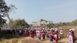 ဘီလင်းဒေသ ကရင်ကျေးရွာသားတွေ စစ်ဆန့်ကျင်ရေးဆန္ဒပြ