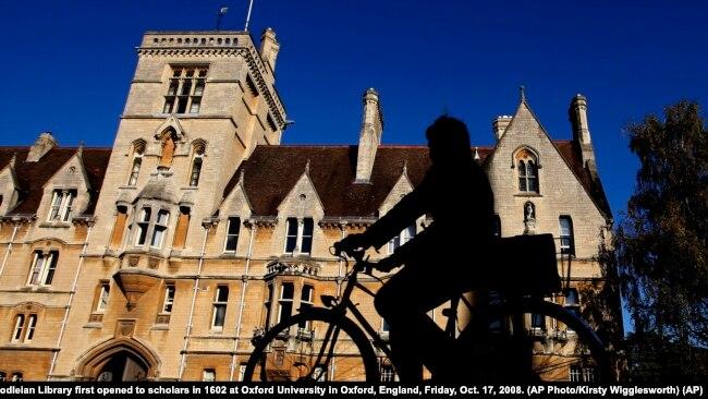 资料照:英国牛津大学的贝利奥尔学院(美联社)。