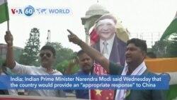 VOA60 World - UN Urges Restraint Along India-China Border
