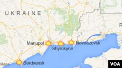 Sebuah kapal pesiar Ukraina terbalik di Laut Hitam (foto: ilustrasi peta Laut Hitam di selatan Ukraina).