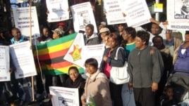 Zimbabweans Protesting In Britain