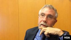 諾貝爾經濟獎得主克魯格曼 (美國之音燕青拍攝)