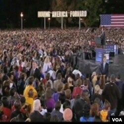 Predsjednik Barack Obama govori na Univerzitetu Ohio, nastojeći vratiti entuzijazam mladih iz vremena kada je bio kandidat za Bijelu kuću