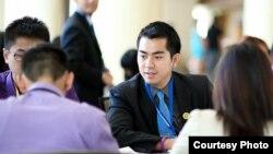 Chủ tịch Liên hội Sinh viên Việt Nam Bắc Mỹ Châu Billy Le.