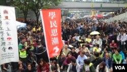 香港警方12月11日全面清场金钟占领区