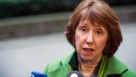 FILE - EU High Representative for Foreign Policy Catherine Ashton