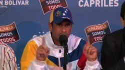 Capriles Calls Off Protests in Venezuela to Avoid Violence